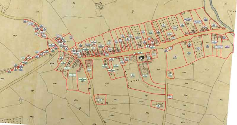 Tithe Map 1841 Village Occupiers